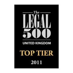 The Legal 500 UK Top Tier 2011