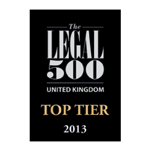 The Legal 500 UK Top Tier 2013