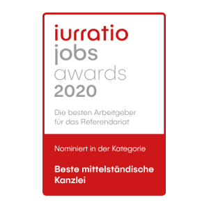 jurratio jobs awards 2020 - nominated: best medium sized law firm