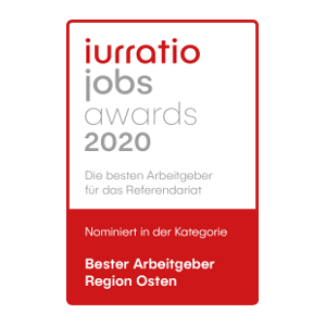jurratio jobs awards 2020 - nominated: best employer east