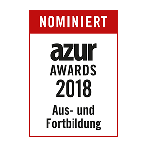 nominated - AZUR 2018 education and training